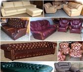 Фотография в Мебель и интерьер Мягкая мебель Кожаный диван-кровать, новый, выкатной механизм в Москве 59900