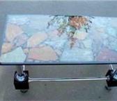 Изображение в Мебель и интерьер Мебель для гостиной Стол..ручная работа.Мозайка из камней.Ножки в Москве 25000
