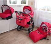 Фото в Для детей Детские коляски В отличном состоянии, цвет яркий красный, в Воронеже 11500